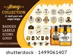 vectore honey design collection.... | Shutterstock .eps vector #1499061407