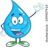 water drop cartoon mascot... | Shutterstock .eps vector #149907914