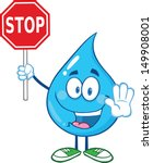 Water Drop Cartoon Mascot...