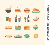 food icons | Shutterstock .eps vector #149908817