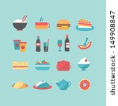 food icons | Shutterstock .eps vector #149908847