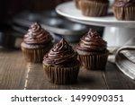 Chocolate Cupcake On Dark...