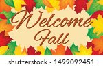 Welcome Fall Banner With Autum...