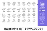 aircraft outline icon set with... | Shutterstock .eps vector #1499101034