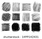squares hand drawn scribble big ... | Shutterstock .eps vector #1499142431