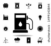 gas station  oil icon . set of...