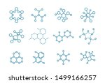 the structure of the substance. ... | Shutterstock .eps vector #1499166257