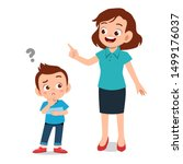 parent help teach kid... | Shutterstock .eps vector #1499176037