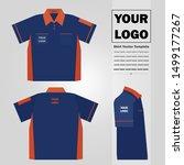 men polo neck shirt vector...   Shutterstock .eps vector #1499177267
