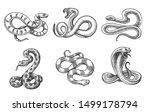 snakes sketch. black hand drawn ...   Shutterstock .eps vector #1499178794