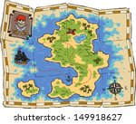 a treasure map on a white... | Shutterstock .eps vector #149918627