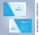blue and white modern business... | Shutterstock .eps vector #1499210657