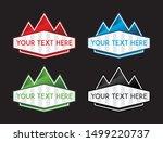 banner set  text box  title box ... | Shutterstock .eps vector #1499220737