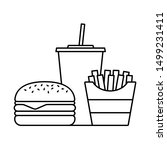 hamburger soda takeaway and... | Shutterstock .eps vector #1499231411