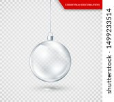 glass transparent christmas... | Shutterstock .eps vector #1499233514