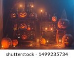 halloween decoration with... | Shutterstock . vector #1499235734
