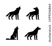 set of wolf logo. icon design.... | Shutterstock . vector #1499246864
