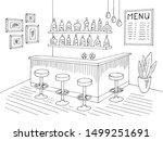 cafe bar graphic black white... | Shutterstock .eps vector #1499251691