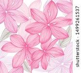 tender lilies flowers seamless...   Shutterstock .eps vector #1499261537