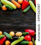 autumn harvest. vegetables  ... | Shutterstock . vector #1499262587