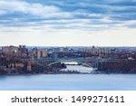 Henry Hudson Bridge, Bronx from Englewood Cliffs