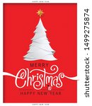 merry christmas and happy new... | Shutterstock .eps vector #1499275874