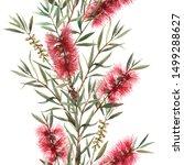watercolor floral tropical... | Shutterstock . vector #1499288627