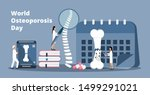 Osteoporosis World Day Concept...