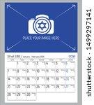 elegant wall calendar for... | Shutterstock .eps vector #1499297141