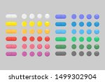 set of  several colorful... | Shutterstock .eps vector #1499302904
