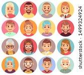 cartoon avatars. people of...   Shutterstock .eps vector #1499324924