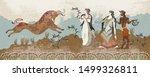 ancient greece frescos. minoan...   Shutterstock .eps vector #1499326811