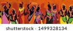 african women silhouettes in... | Shutterstock .eps vector #1499328134