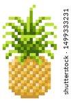a pineapple pixel art 8 bit...   Shutterstock . vector #1499333231