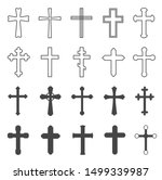 Christian Crosses. Decorative...