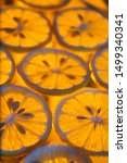 Small photo of colorful abstract lemon, abstract background