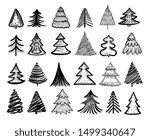sketch fir tree. christmas...   Shutterstock .eps vector #1499340647