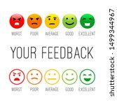 feedback emotion icons. colour... | Shutterstock .eps vector #1499344967