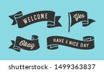 ribbon banner. set of black... | Shutterstock .eps vector #1499363837