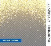 sparkling golden glitter on... | Shutterstock .eps vector #1499369747