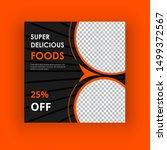super delicious food social... | Shutterstock .eps vector #1499372567