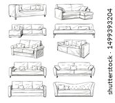 sketch of sofas isolated on...   Shutterstock .eps vector #1499393204