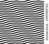 wavy lines seamless geometric... | Shutterstock .eps vector #1499409761