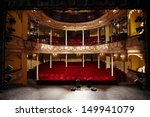 View Of An Empty Theatre With...