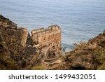 Ruin of Los Realejos on Cliff of Tenerife, Spain, Europe