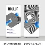 blue black abstract shapes...   Shutterstock .eps vector #1499437604
