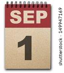 1 September Calendar On Recycl...