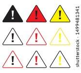 warning sing. attetion sing.... | Shutterstock .eps vector #1499481341