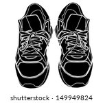 pair of tying sports shoes... | Shutterstock .eps vector #149949824