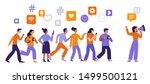 vector illustration in flat... | Shutterstock .eps vector #1499500121